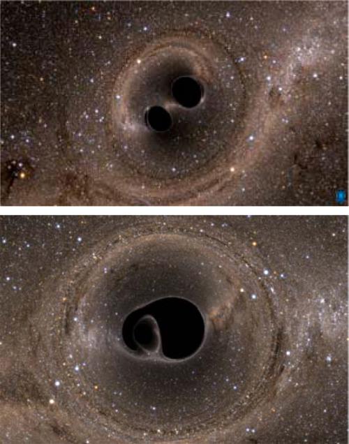 данный фото двух черных дыр глубокого яркого