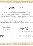 Certificate of IPC International Association member